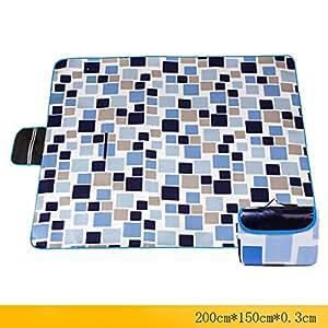 LXLA- Plegable a prueba de humedad Camping Picnic Mat Alfombra de tela salvaje Alfombra portátil Espesar Solo paño grueso y suave 200 * 150 cm Número aplicable: 3-5 personas ( Color : Style 1 )