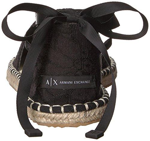 Black Sandal Lace Women Espadrille A Armani Armani Exchange X Exchange x8AqzwSF