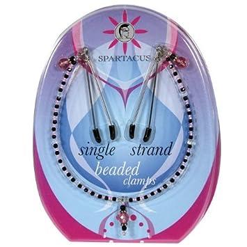 Amazon.com: Bundle Package Of Single Strand Beaded Nip Clamp ...
