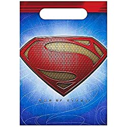Superman Man of Steel Favor Bags (8ct) by Hallmark