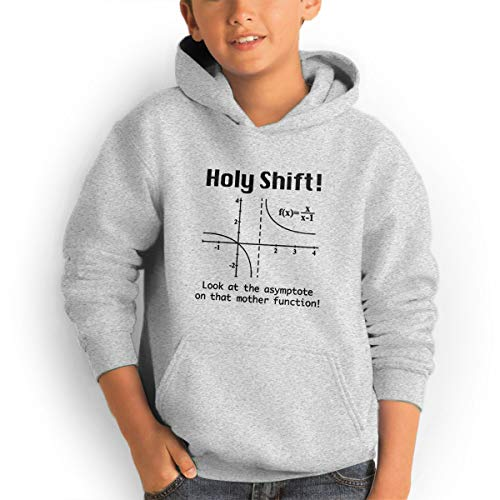 Shenhuakal Youth Hoodies Holy Shift Math Ggirl%Boy Sweatshirts Pullover with Pocket Gray 32 by Shenhuakal