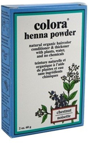 Colora Henna Powder Hair Color Chestnut, 2 oz (Pack of 12) by Colora Henna Powder