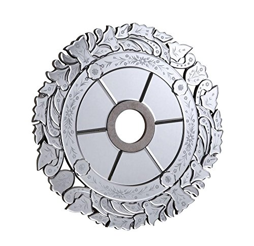 Elegant Lighting MD411D32SC 32 in. Mirror Medallion, Silver With Clear Mirror by Elegant Lighting by Elegant Lighting