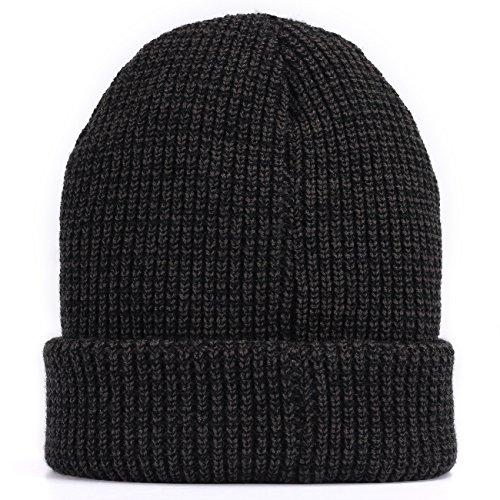Men Knit Hat Winter Beanie Slouchy Hats Skull Cap Thick Fleece Lining