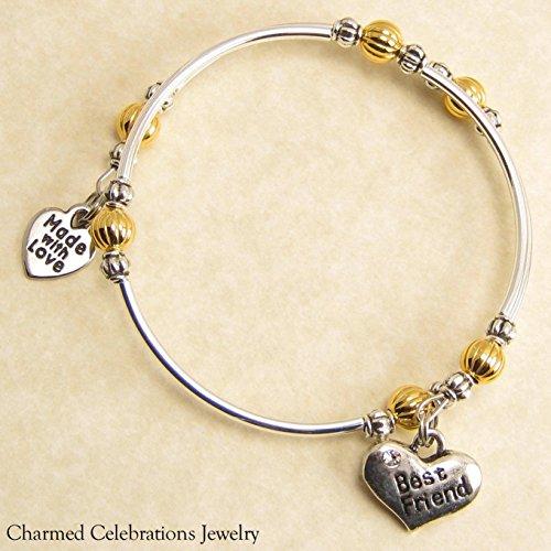 Niece Wrap Bracelet Handmade Themed Charm Bracelet Jewelry Gift Silver or Black Bead Option Gold