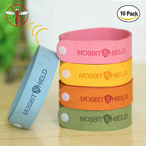 Lavender Insect Repellent - LovelyHomeShop Mosquito Repellent Bracelets 10pcs, 100% All Natural Plant-Based Oil Mosquito Bands, Non-Toxic Travel Insect Repellent, Soft Material For Kids & Adults, Keeps Insects & Bugs Away