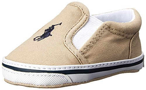 - Ralph Lauren Layette Balmount Slip On (Infant/Toddler), Khaki, 1 M US Infant