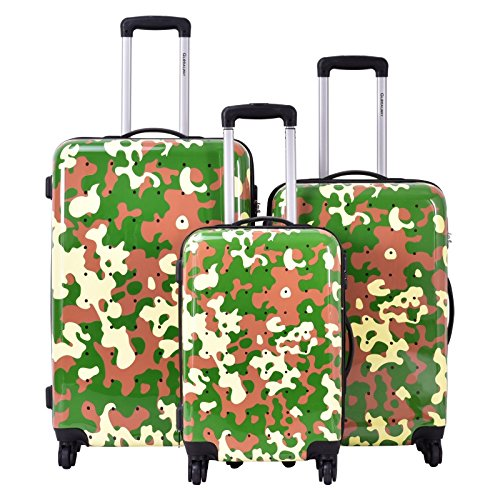 Travel Luggage Set 3 Pcs ABS+PC Trolley Suitcase With Code Lock With Ebook by MRT SUPPLY
