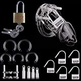 FeiGu Male Chastity Cage Device for Men 13, Short Clear