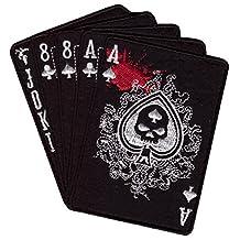 Hook Fastener Black Dead Spade Man's Hand Black Punisher Tactical Morale Gear Patch