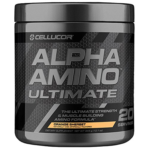 Cellucor Alpha Amino Ultimate EAA & BCAA Recovery Powder + HMB, Essential & Branched Chain Amino Acids For Post Workout Hydration, Orange Sherbet, 20 Servings]()