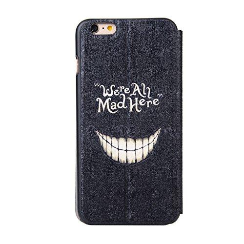 MOONCASE Apple iPhone 6 Case Slim Window View Design Tasche Flip Leder Schutzhülle Etui Case Cover Hülle Schale für Apple iPhone 6 / 6S (4.7 inch) XA04