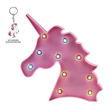 3f795b4fa Luz decorativa de unicornio con luz nocturna mágica y brillante