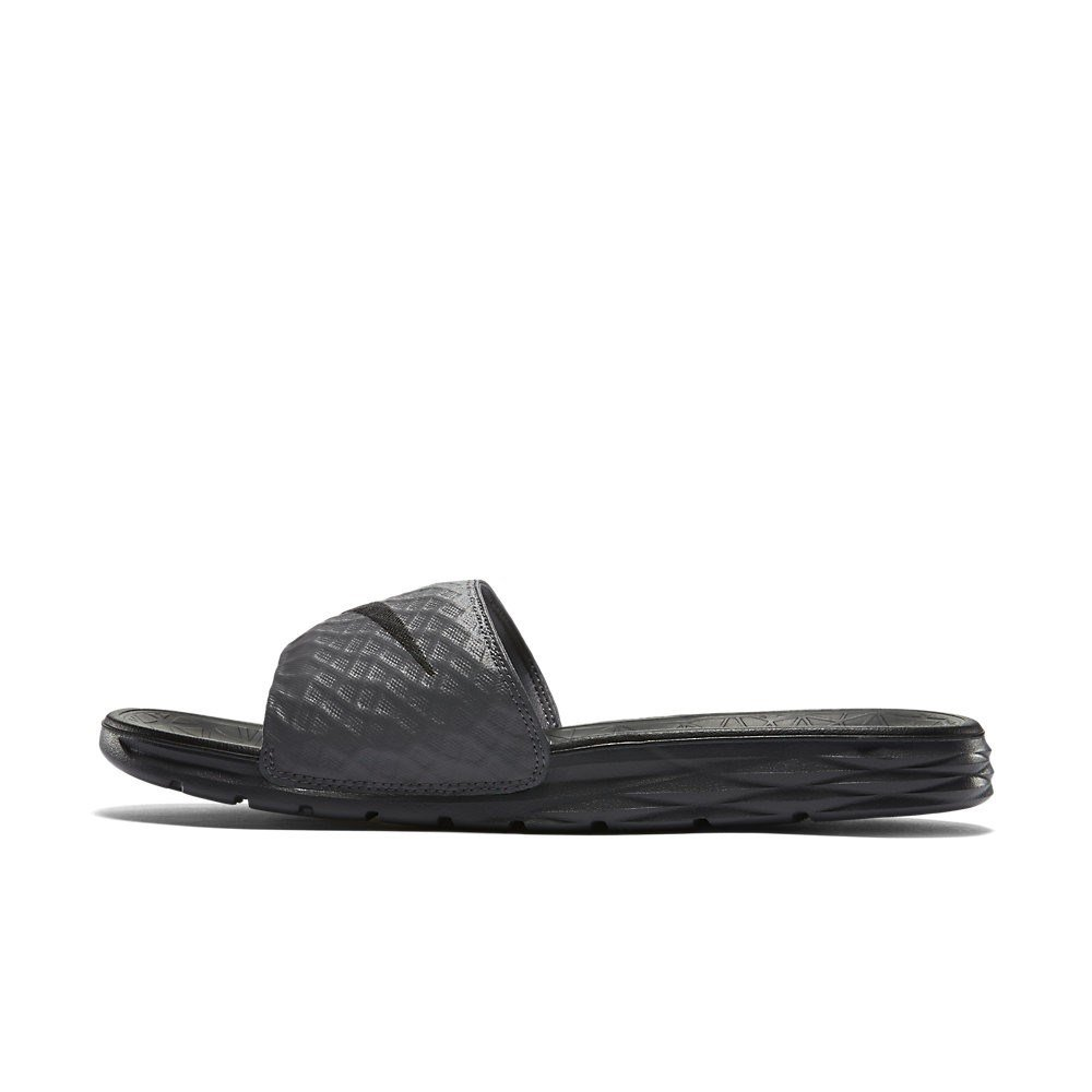 NIKE - Benassi Solarsoft - 705474090 - Color: Grey - Size: 11.0 by NIKE
