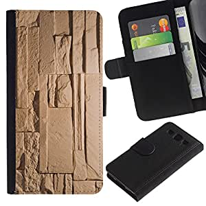 UberTech / Samsung Galaxy S3 III I9300 / Egypt Pyramid Ancient Beige Pattern / Cuero PU Delgado caso Billetera cubierta Shell Armor Funda Case Cover Wallet Credit Card
