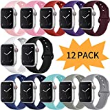 Bravely klimbing Compatible with Apple Watch Band 38mm 40mm for Women Men, iwatch Bands Compatible with iWatch Series 5, Series 4,Series 3, Series 2, Series 1, S/M 12 Pack