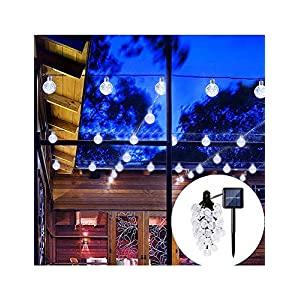 PeterIvan Solar Garden Lights - Solar String Lights with 30 LED Fairy Bubble Crystal Ball Lights for Garden Decoration, 20ft Waterproof Solar Fairy Lights Outdoor Charged by Sunlight