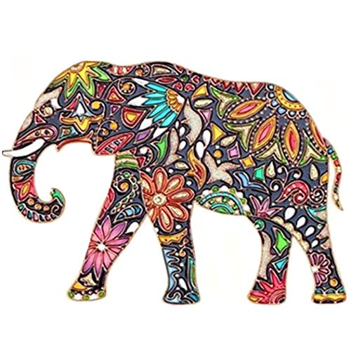 DIY 5D Diamond Painting Kits Full Drill, ACTIMEX Rhinestone Crystal Embroidery Pictures Cross Stitch for Home Wall Decoration Animal Unique Elephant 3530 cm (13.711.8 inch)