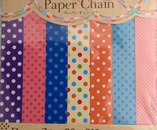 210 PCS Coloful Poka Dot Dotted Colored Paper Chain Strips, Scarpbooks, Arts & Crafts, Party Decoration and more
