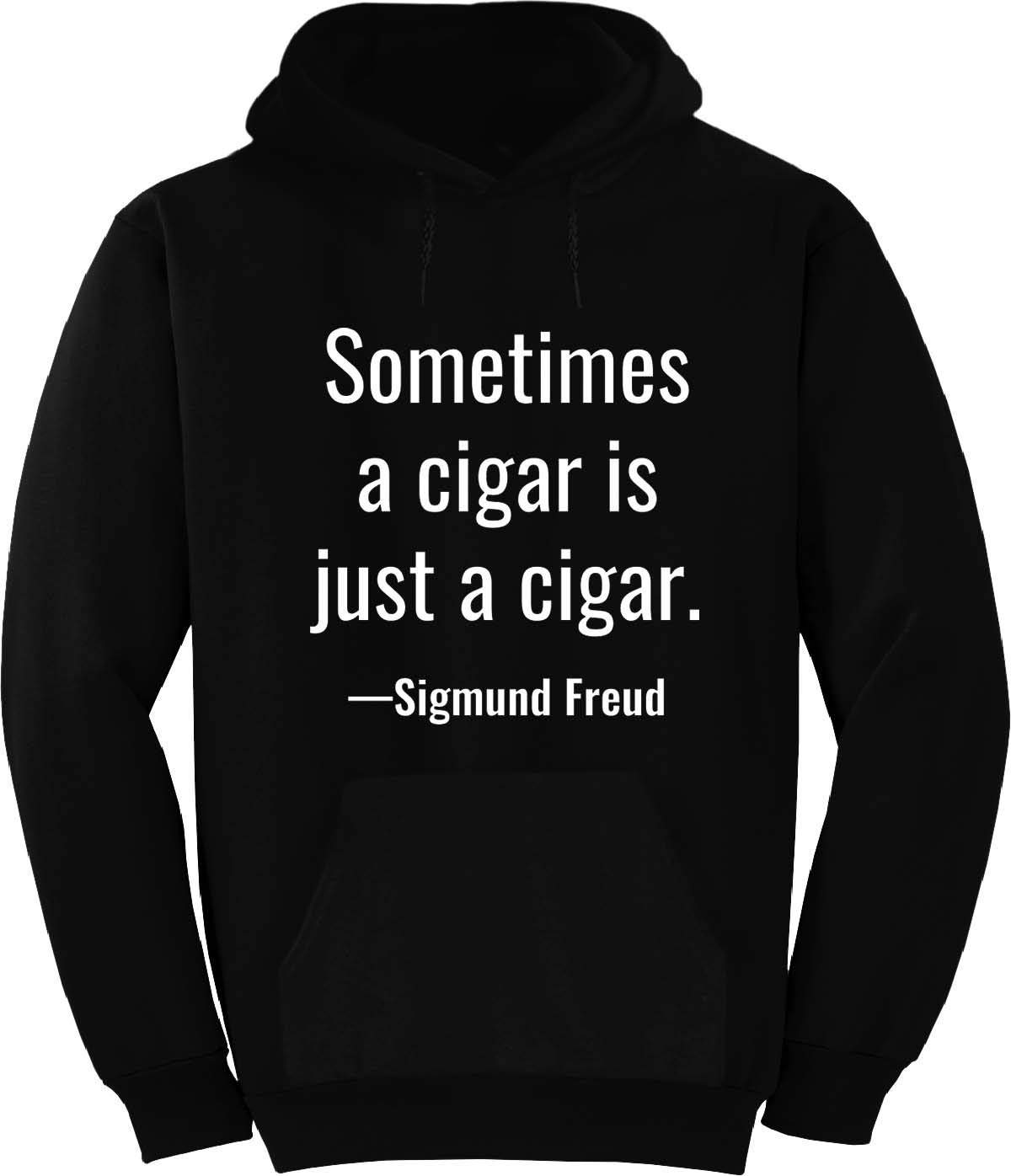 BuffThreads Sometimes a Cigar is just a Cigar. Hoodie Black