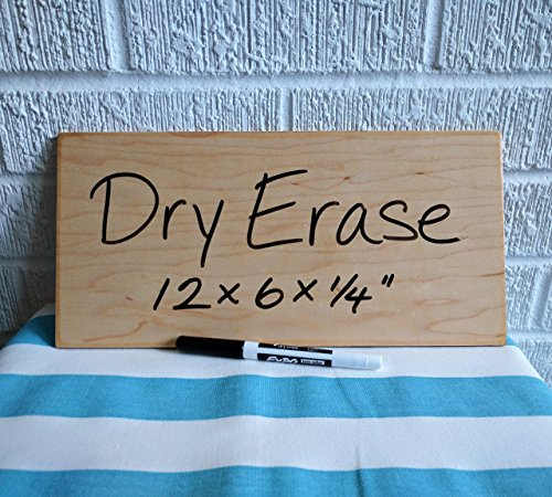 "WOODEN 12"" Dry Erase Board - Made in America"