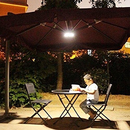 symboat Cantilever cortile ombrello luce esterna Cantilever Piscina Senza Fili Stand Deck Light Tavolo Campeggio