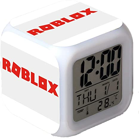 Kxdn Roblox Alarm Clock Colorful Mood Led Alarm Clock Snooze Night Kxdn Roblox Alarm Clock Colorful Mood Led Alarm Clock Snooze Night Light 12 24 Hour Conversion Temperature Date Display 1 Amazon Co Uk Kitchen Home