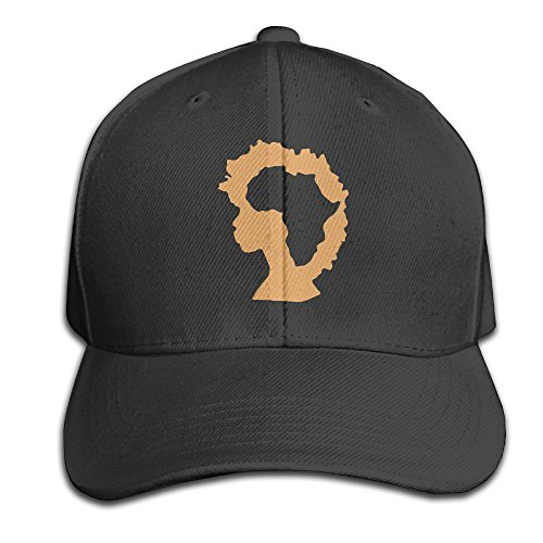 Afro Hat (Afro Natural Hair Africa Cotton Cap Hats Fitted Black Baseball Cap)