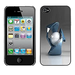 Be Good Phone Accessory // Dura Cáscara cubierta Protectora Caso Carcasa Funda de Protección para Apple Iphone 4 / 4S // Abstract Shapes