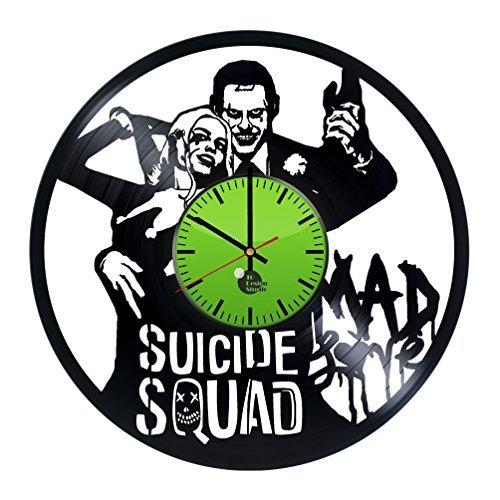 Suicide Squad Decal Vinyl Record Wall Clock - Get unique liv