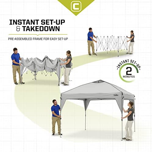 CORE 10' x 10' Instant Shelter Pop-Up Canopy Tent with Wheeled Carry Bag 3