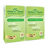 Easy@Home(UTI-20P) Urinary Tract Infection Test Strips (UTI Test Strips) Monitor Bladder or Urinary Tract Issues by Testing Urine, 20 tests-10 Tests/Box-FDA Approved- UTI-20