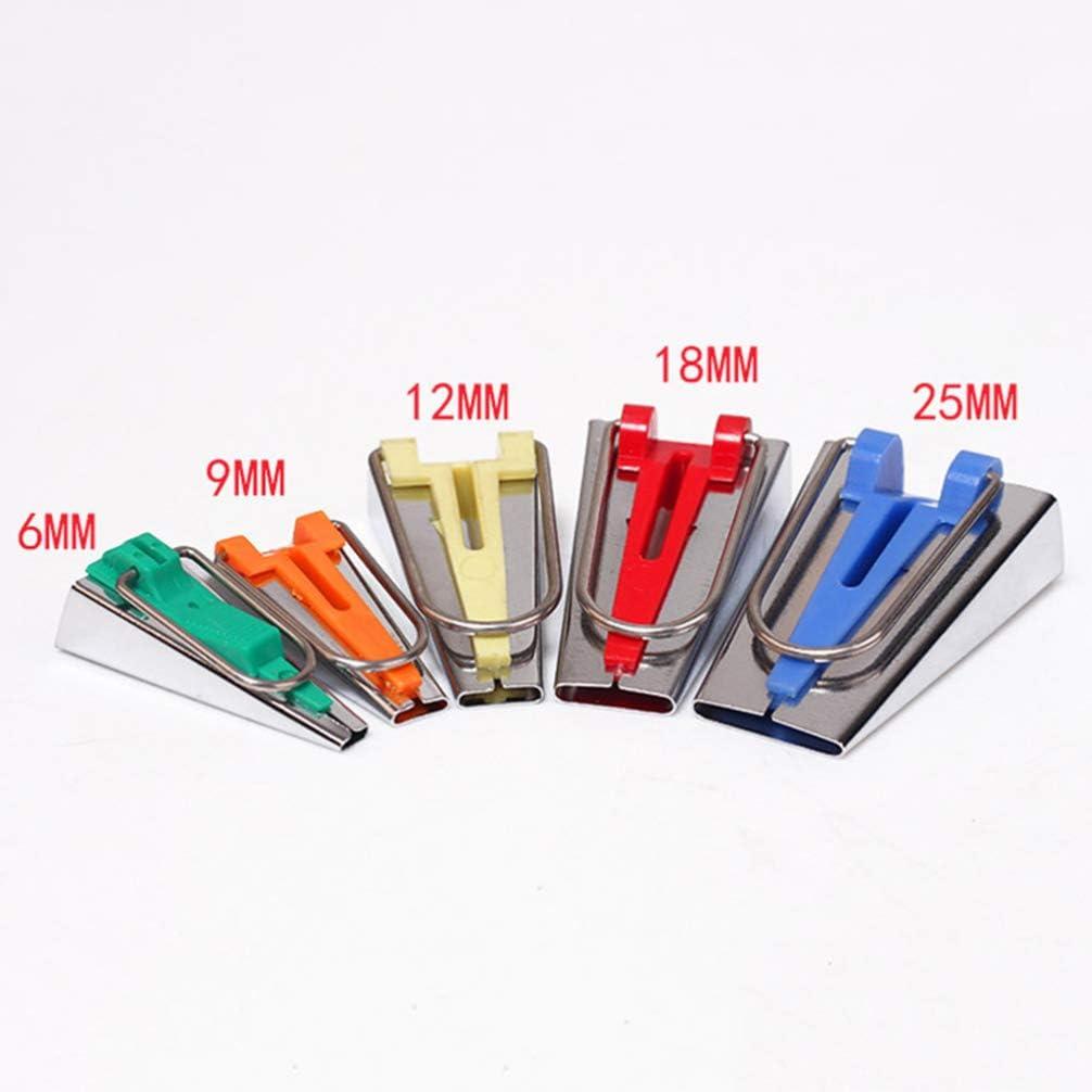 Topbathy 6 mm, 9 mm, 12 mm, 18 mm, 25 mm Juego de 5 herramientas para hacer cintas al bies