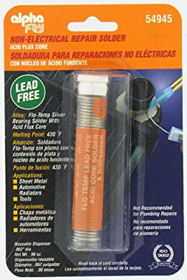 Alpha Fry AM54945 Cookson Elect Flo-Temp Lead Free Acid Core Solder and Dispenser - - Amazon.com