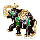jewelry party brooches animal Enamel Brooches for women Fashion black elephant Brooch