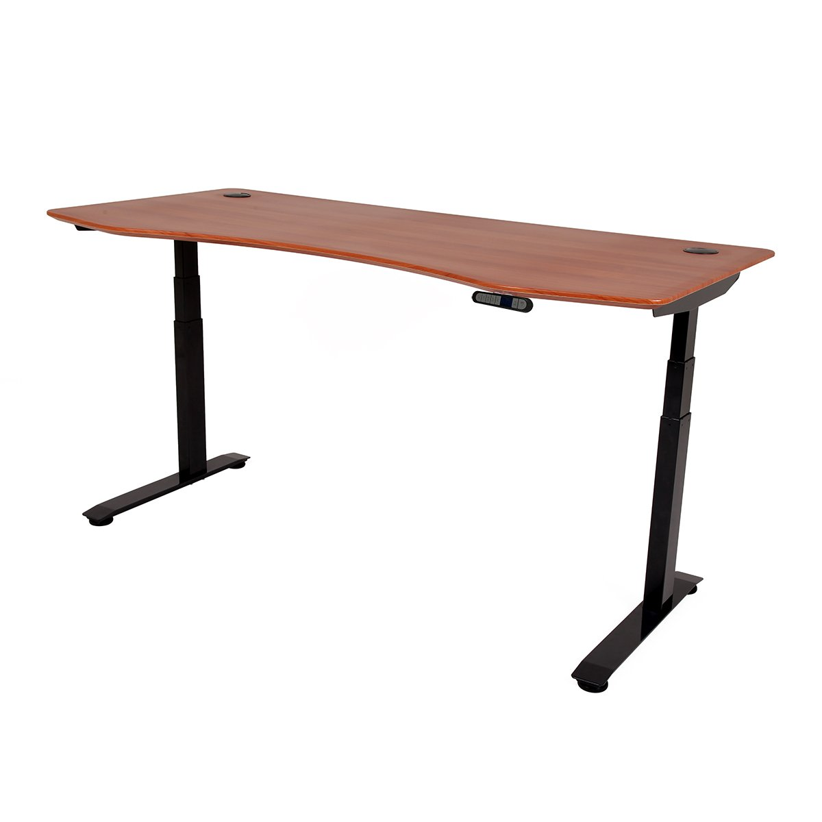 ApexDesk Elite Series 71'' W Electric Height Adjustable Standing Desk (Memory Controller, 71'' Red Cherry Top, Black Frame) by ApexDesk
