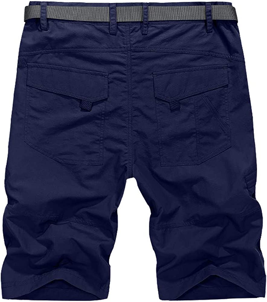 linlon Mens Outdoor Lightweight Hiking Shorts Quick Dry Cargo Shorts Sports Casual Tactical Fishing Shorts