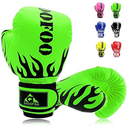 Kids Boxing Gloves 4oz 6oz 8oz Punching Gloves for Kids Youth Traning Gloves for Punching Bag Kickboxing Sparring Muay…