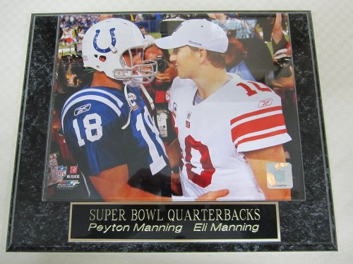 Eli Manning Peyton Manning Collector Plaque w/8x10 Photo (Collectors Manning Peyton)
