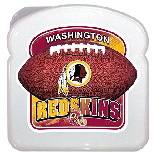 Maurice Sporting Goods NFL Washington Redskins 3D Sandwich Container, Clear