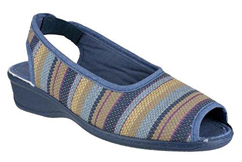 Sandalen Blue Sling mit Comfort Mirak CARLA Blue Absatz Backs Peep Toes qdvSnCwS1