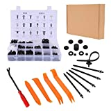 Stanz (TM) 415PCS Car Retainer Clips Fasteners with Removal tools Door Panel Remover, 18 Sizes of Plastic Push Rivets Clips Kit for Ford Chrysler Toyota Mazda Suzuki Honda