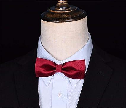 WUNDEPYTIE Corbata de moño Poliéster Boda para Hombre de Negocios ...