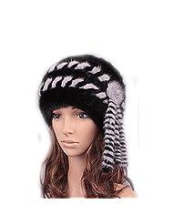 UK.GREIFF Trendy Women's Warm Stretch Tribal Style Fur Beanie Skull Winter Hat