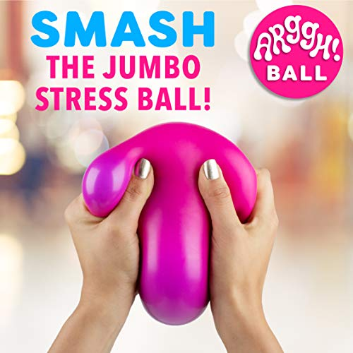 Arggh Giant Stress Ball - Fidget Toys for Adults, Sensory Toys, Squishy Stress Relief Toys for Kids (Pink/Purple)