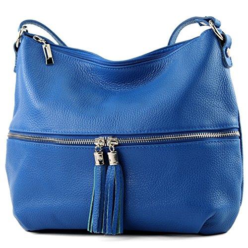 modamoda de - Made in Italy - Bolso cruzados para mujer Azul