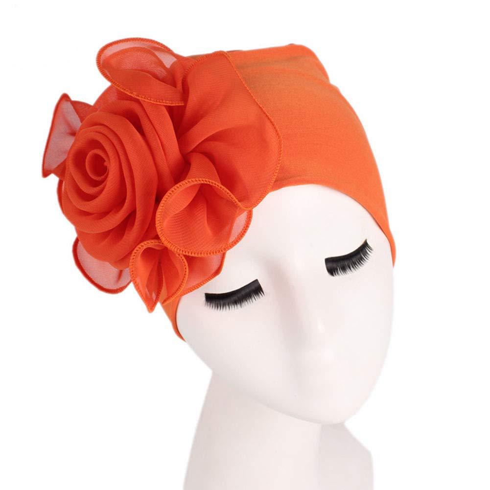 Fiore Grande Decorativo Turbante,Tukistore Donna Cancro Chemio Cappello Turbante Berretto Copertina Testa Di Capelli Sonno Cappello Elastico Turbante Chemioterapia
