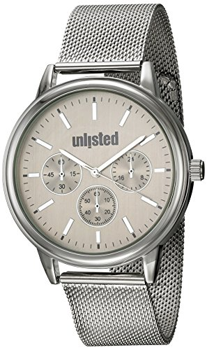 UNLISTED WATCHES Men's Sport Analog-Quartz Watch with Stainless-Steel Strap, Silver, 20 (Model: 10031970)