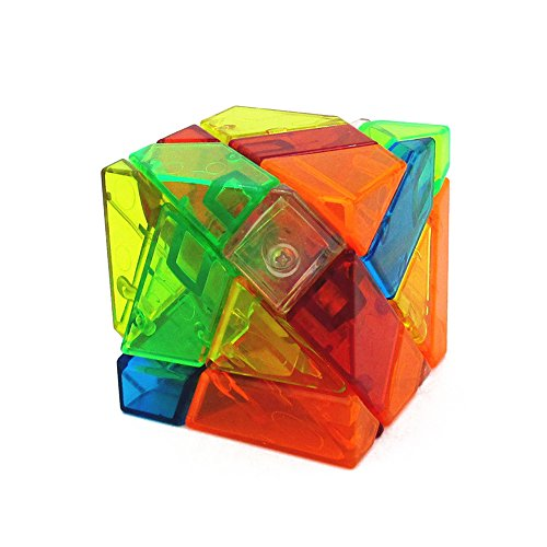 Baidercor High Challenge Irregular Cube Puzzle 3 Layers Colorful Transparent