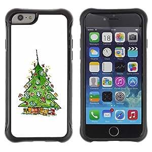 Pulsar iFace Series Tpu silicona Carcasa Funda Case para Apple iPhone 6+ Plus(5.5 inches) , Arbre d'hiver de Santa Blanc